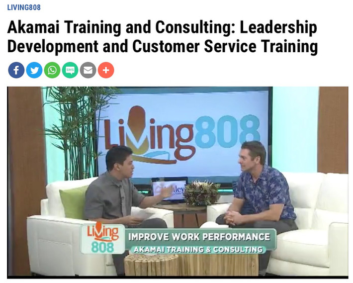 Khon2 Living 808 on Leadership Development & Customer Service Training