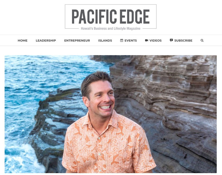 Feature in Pacific Edge Magazine on Leadership