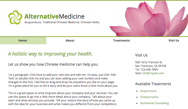Health & Wellness website templates – Natural Remedies