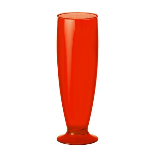 Tulipa Fun de Plastico 300ml Rojo Trasparente