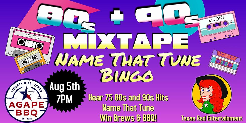 Name That Tune Bingo - 80s + 90s Mixtape