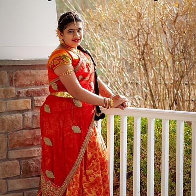 Sreeja Half Saree Event