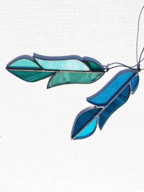 Stained Glass Feather, Bird, Flower, Bee or Crystal - Saturday January 18 - 1pm