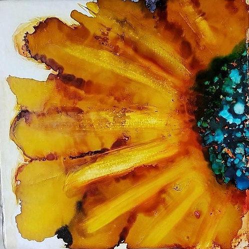 Alcohol Ink Flower Art - Thursday August 30 - 6pm