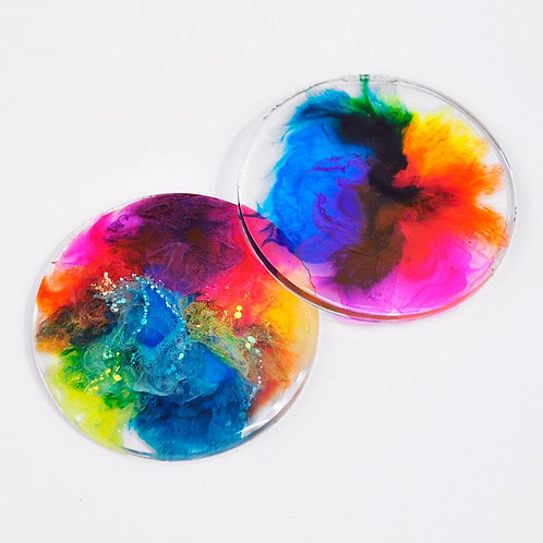 Resin & Alcohol Ink Coasters - Monday March 16 - 6pm