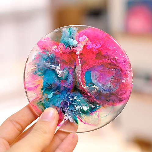 Resin & Alcohol Ink Coasters - Friday December 20 - 6pm