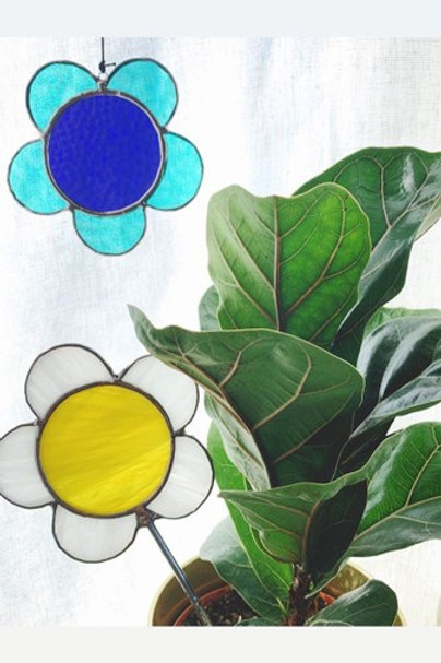 Stained Glass Flower, Feather, Bird or Crystal - Wednesday August 21 - 6PM
