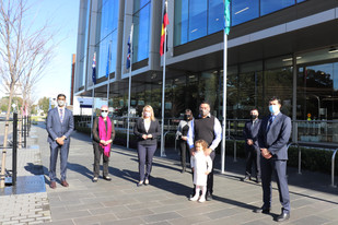Inspirational Newcastle citizens raise flags at City Administration Centre