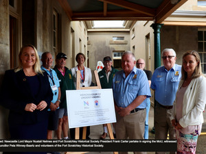 City and Fort Scratchley Historical Society pledge to uphold Newcastle's military history