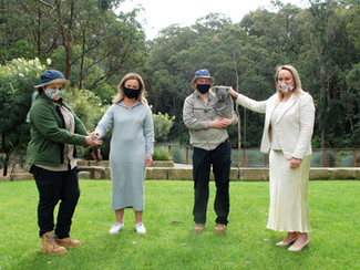 Work continuing behind the scenes at Blackbutt Reserve