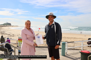 City lifeguard's courageous service recognised with national award
