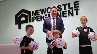 10,000 junior footballers to kick goals this season after Newcastle Permanent back junior sport