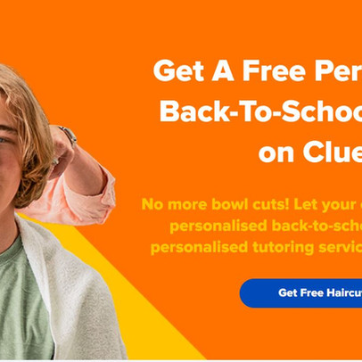 Free Personalised Back To School Haircuts Courtesy Of Online Tutoring Service, Cluey Learning