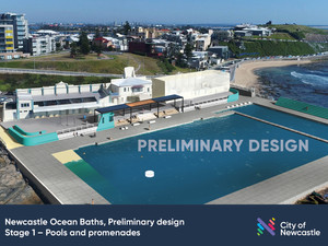 Preliminary design for Newcastle Ocean Baths Stage 1 shows improvements to access and safety