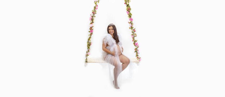 femme enceinte balançoire