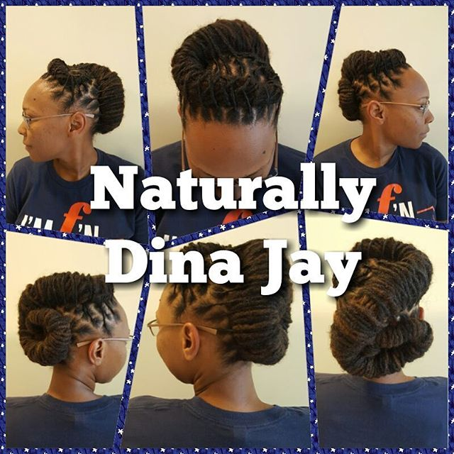 Locs up and all tucked away! #Locs #naturalhair #dennaj #dmv #hnsnaturals #naturallydinajay #locupdo