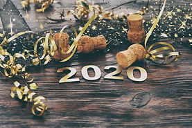 Happy New Year 2020. Symbol from number