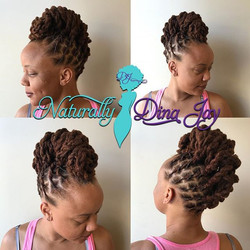 Loc Updo!!! Book online and I'll see you