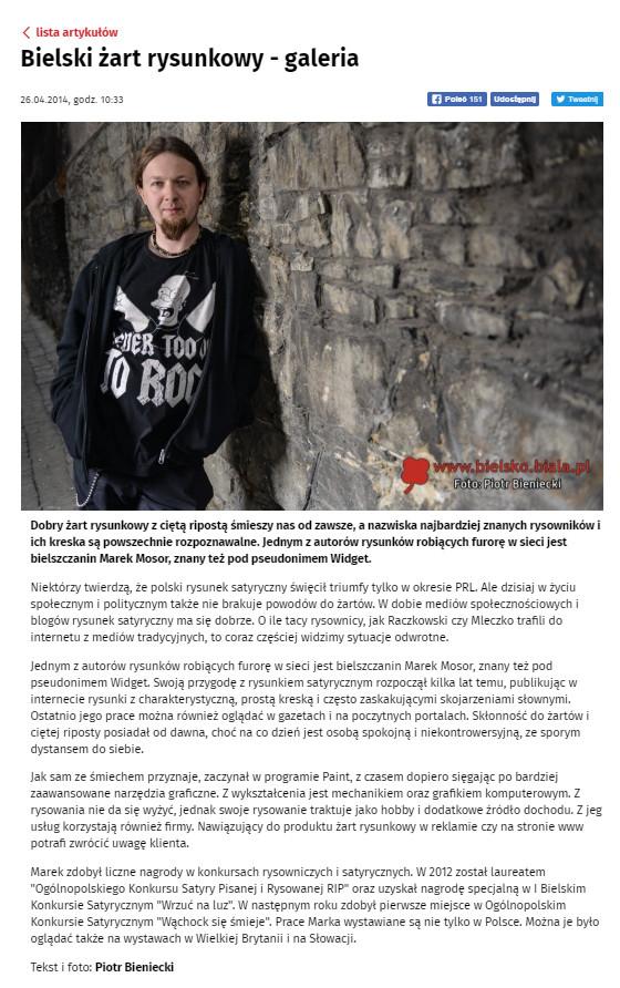 Artykuł na portalu Bielsko.biala.pl