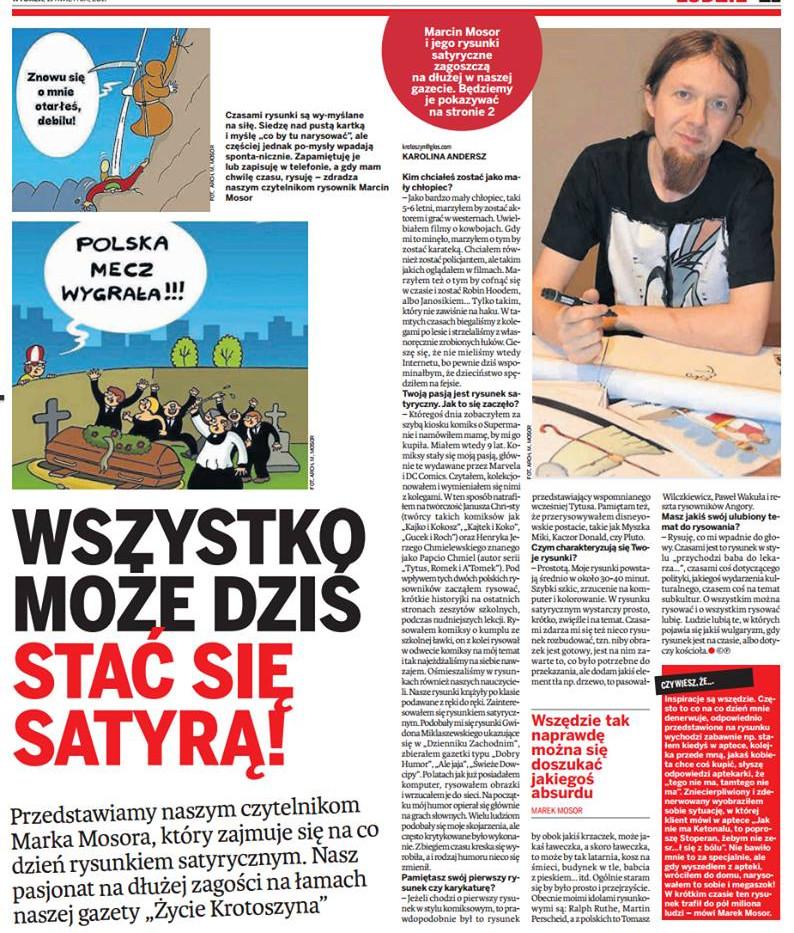 """Wywiad dla czasopisma """"Życie Krotoszyna"""""""