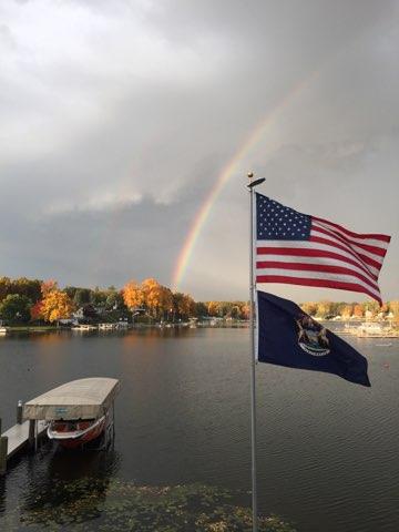 Magician Lake rainbow