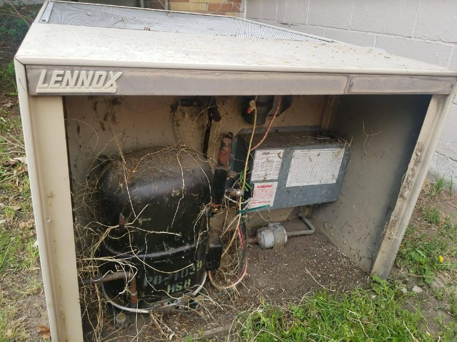 debris in a air conditioner