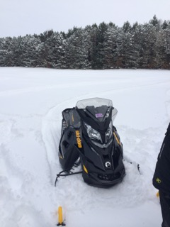 Magician Lake snowmobile