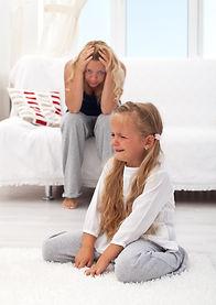 Little girl having a temper tantrum with