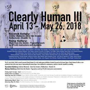 """""""Clearly Human 3"""" at St Louis Artists' Guild opens April 13th, runs through May 26th"""