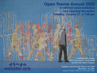 Webster Arts' Open Theme Annual 2020 on January 21st
