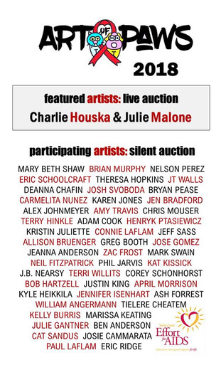 """St Louis Effort for AIDS' """"Art of PAWS"""" benefit"""