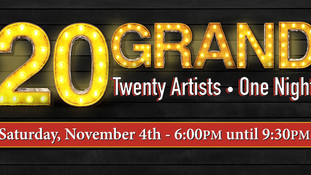 """""""20 GRAND: 20 Artists, One Night"""" on November 4th"""