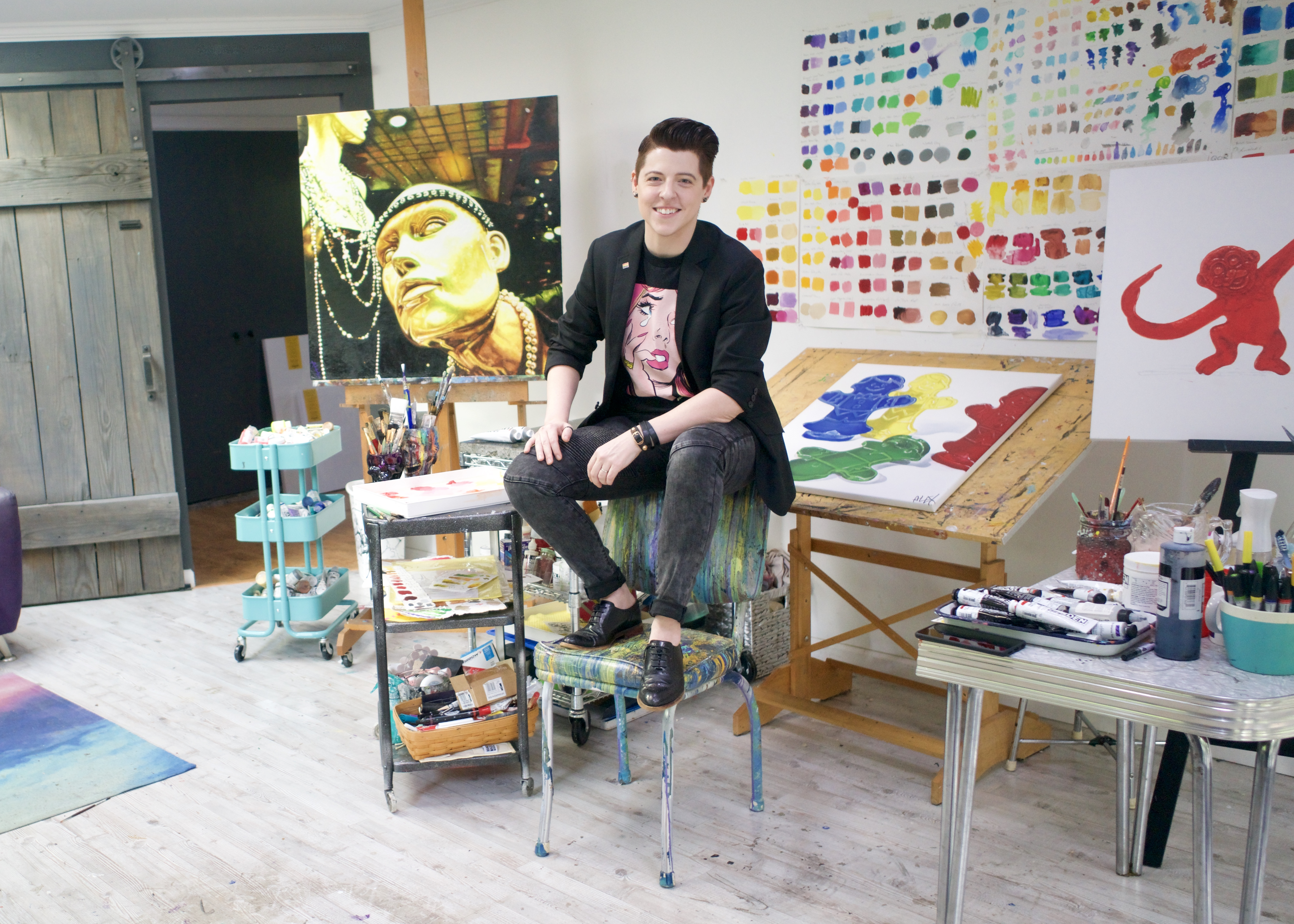 In my studio, 2019