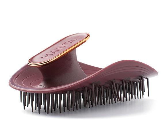 MANTA Hairbrush   BURGUNDY