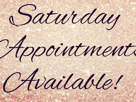 Saturday appointments available