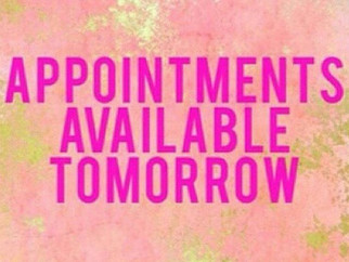 APPOINTMENT AVILABLE