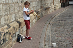 Straßenmusiker in Riga