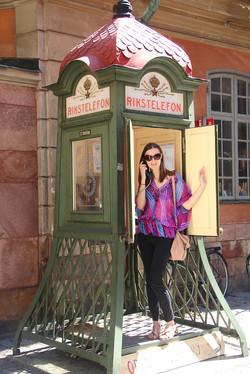 typische Telefonzelle in Stockholm