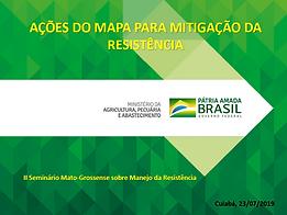 Ações do MAPA para mitigação da resistência
