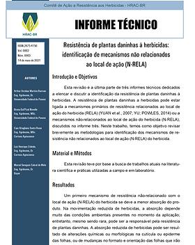 Informe Técnico 3 -  Resistência de plan