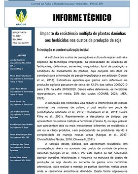 Informe Técnico 4 -  Impacto da resistên