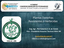 Plantas daninhas resistentes à herbicidas (II Conbraf)