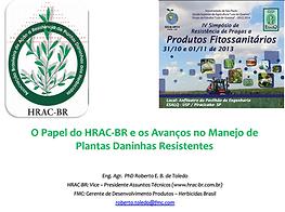 O papel do HRAC-BR e os avanços no manejo de plantas daninhas resistentes