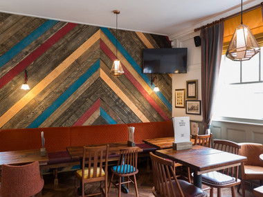 Harp Interiors proud to be part of The Vauxhall Griffin Punch Tavern pub project