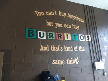 Burrito Gonzalez Taking Shape Last Week