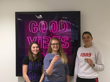 Vibe Pay! Their Fun Office Project Looking FAB with Good Vibes from Harp!!