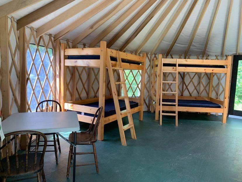 Yurt 3 Interior, left view