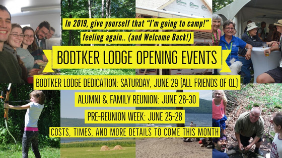 Bodtker Lodge Dedication and Alumni Reunion: June 2019