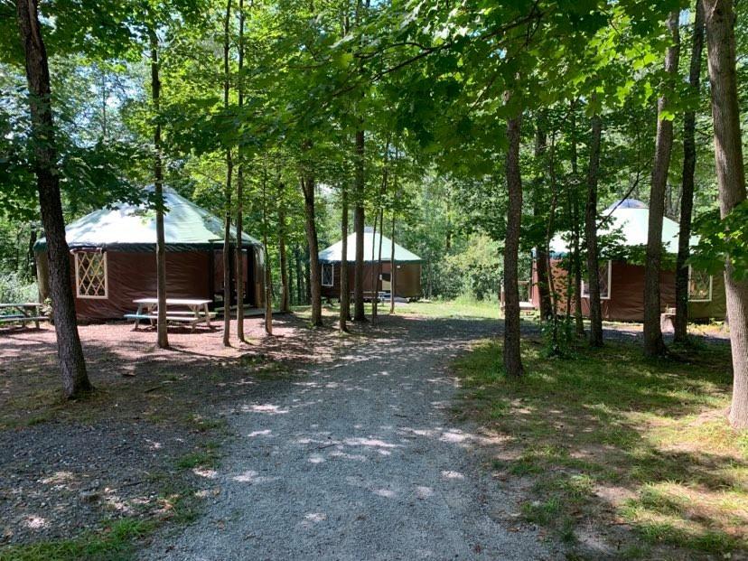 Yurt Village view