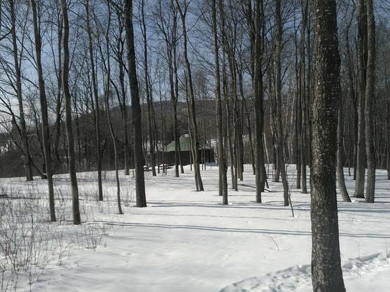 Camp quiet in snow, belies efforts underway for summer 2018.